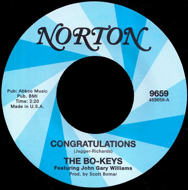The Bo-Keys featuring John Gary Williams - Congratulations (Norton 9659)