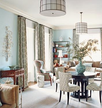 The designer 39 s muse spring color inspiration robins egg blue - Tiffany blue and brown living room ...