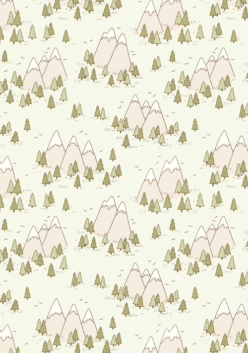 Emma Margaret Illustration Mountains Pattern 2015