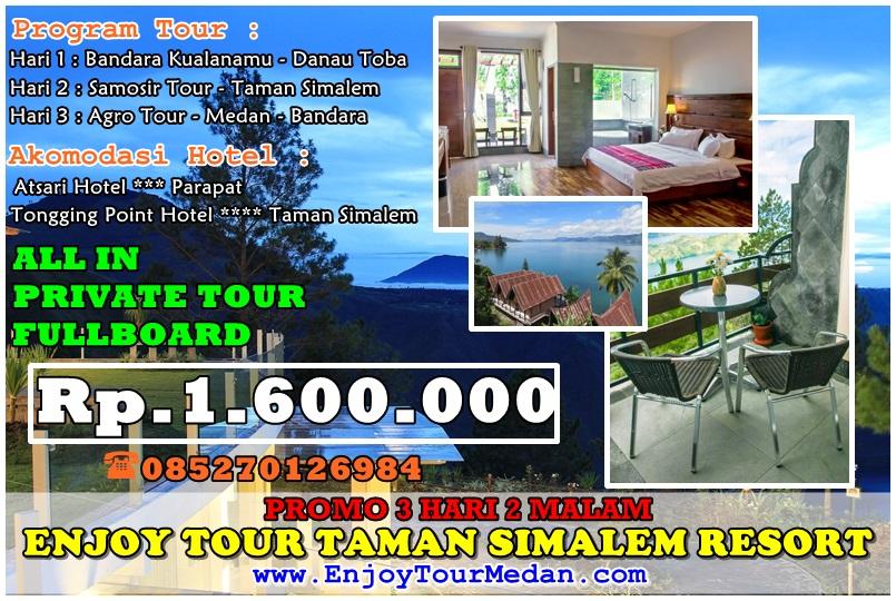Promo Paket Tour Medan Danau Toba & Taman Simalem Resort 3 Hari 2 Malam