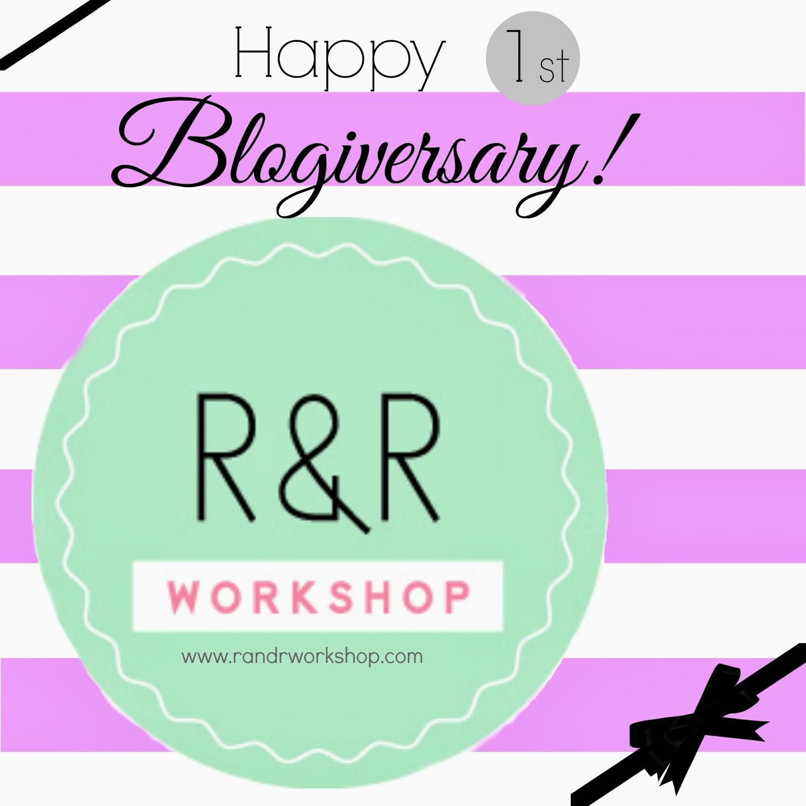 R & R Workshop Blogiversary Giveaway at artsyfartsymama.com #giveaway