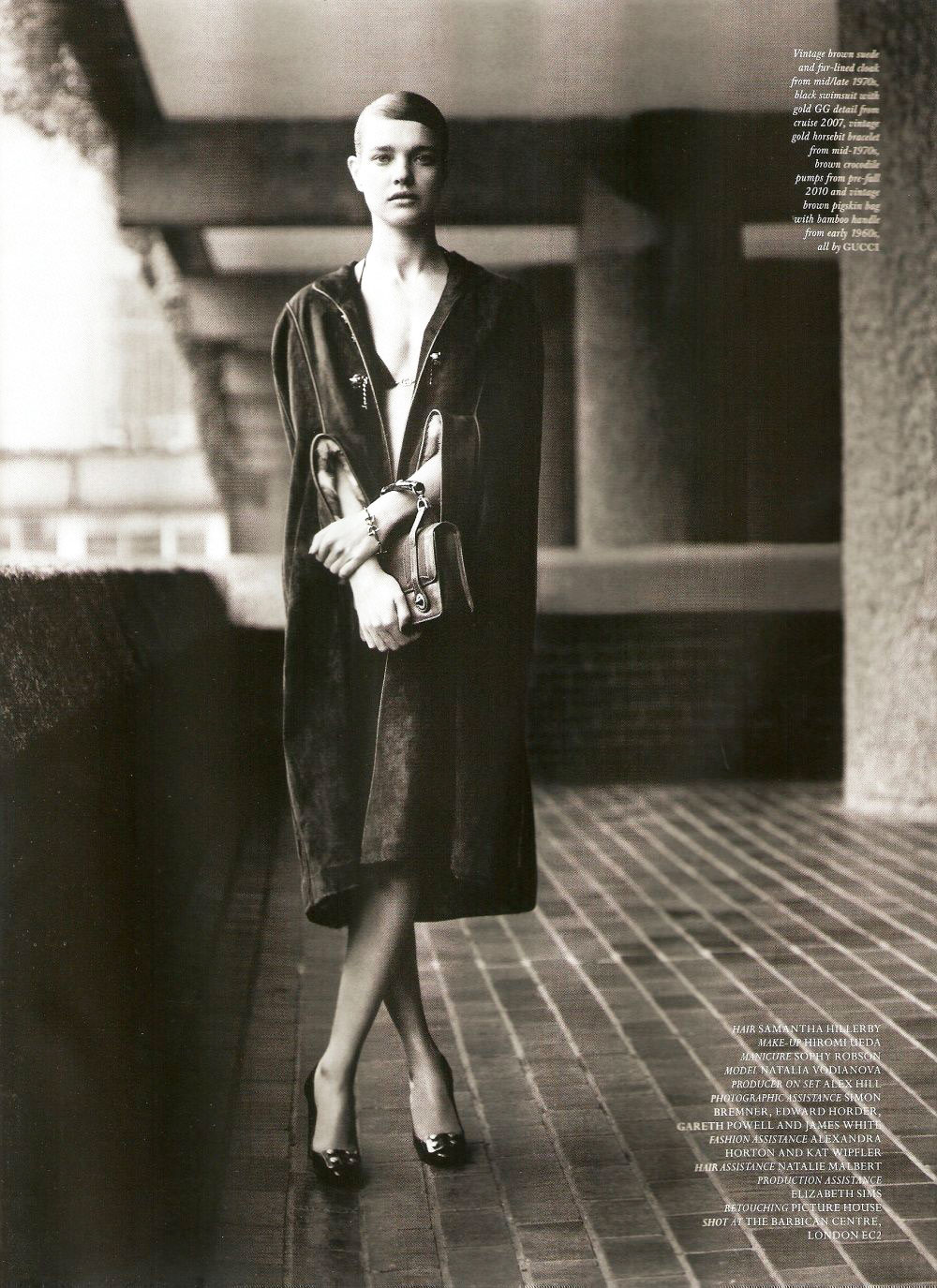 via fashioned by love | Natalia Vodianova wearing vintage Gucci in The Craft | Love #6 2011 (photography: Alasdair Mclellan, styling: Katie Grand)