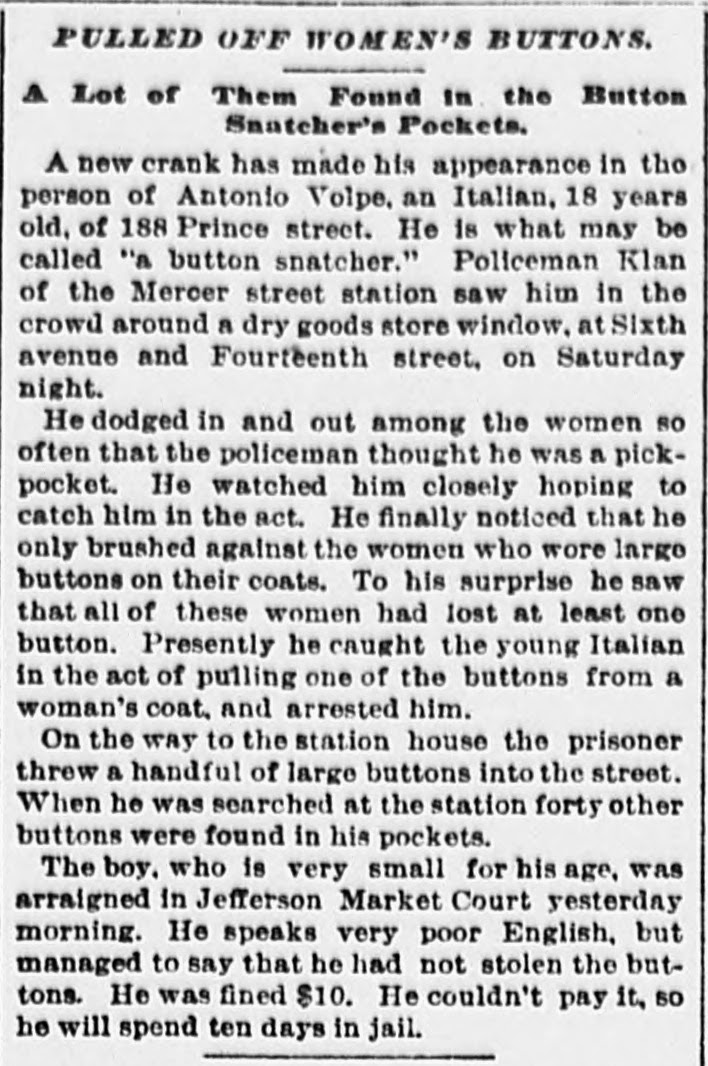 Newspaper clipping from December 1895