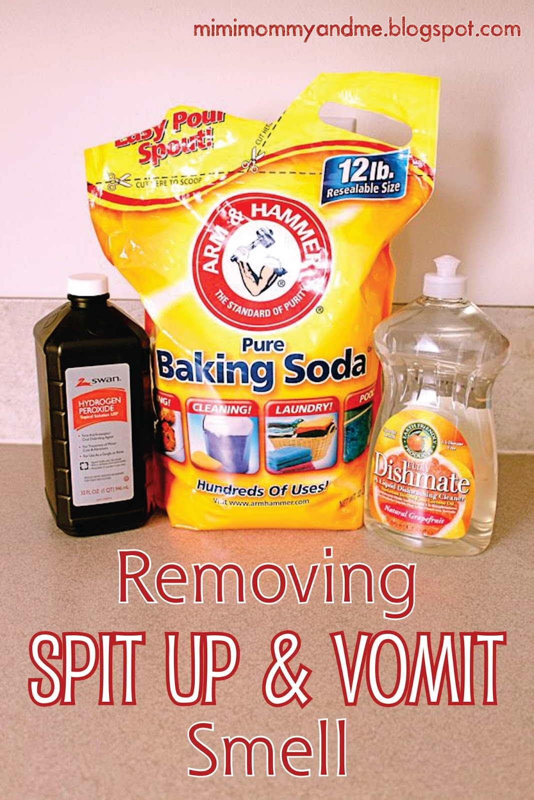 http://mimimommyandme.blogspot.com/2014/05/removing-spit-up-and-vomit-smell.html