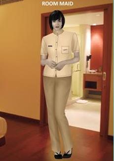 gambar hygiene,  room maid dengan penampilan yang ideal