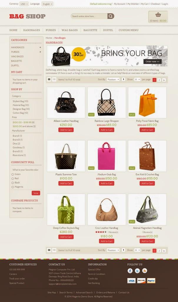 Premium Responsive Online store template