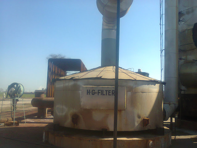 Sulfuric Acid Plant in Pakistan 100 Metric ton daily production by contact process single absorption, image by irfan ahmad plant operator, Hot Gas Filter
