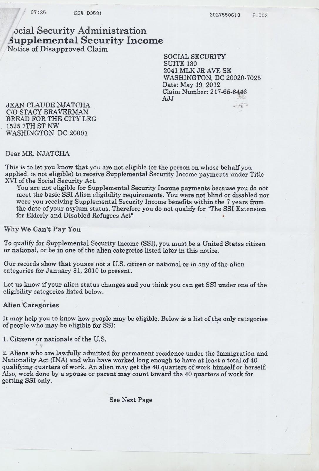Ssn Denial Letter Levelings