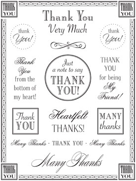 SRM Stickers Blog - Fancy Thank You Cards by Christine - #fancy #stickers #thanks