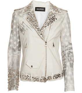 Balmain White Studded Jacket Fashion