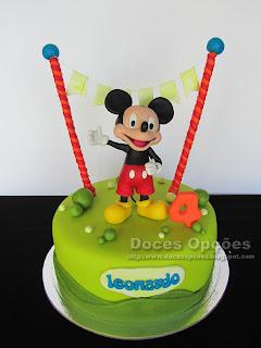 Um aniversário com o Mickey Mouse