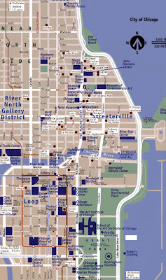 Simple downtown Chicago map