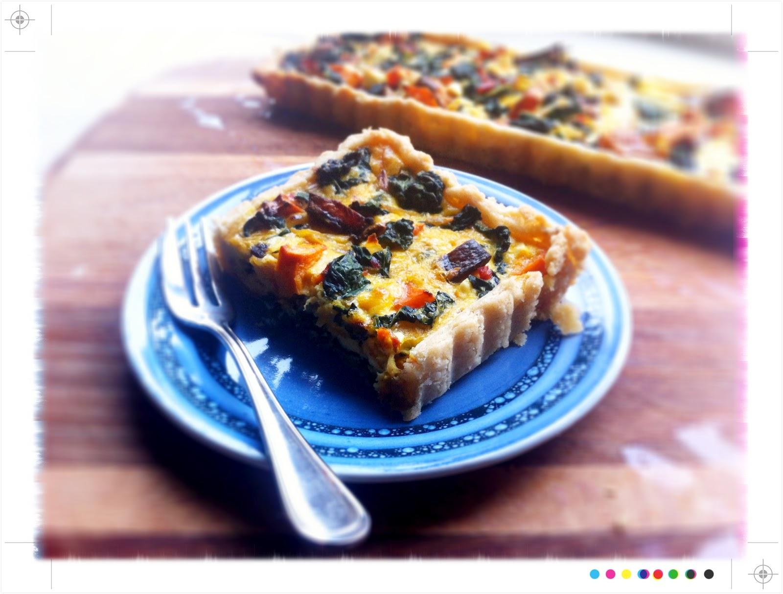 Toast: In Season - Roast Pumpkin Cavolo Nero and Feta Tart