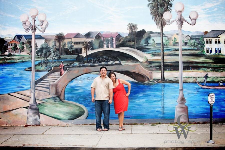 Venice beach engagement portrait