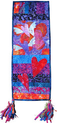 "Art Quilt ""HeARTs Are for Friends"""