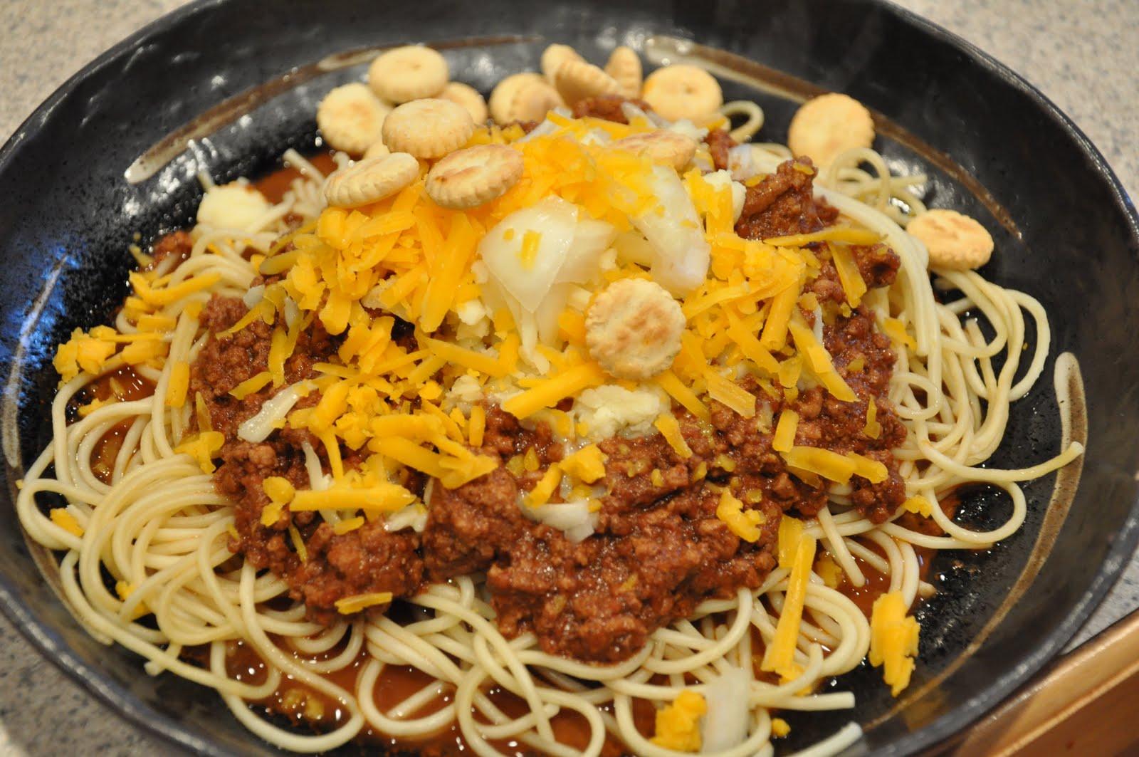Cincinnati Chili With Spaghetti And Grated Cheese Recipes — Dishmaps