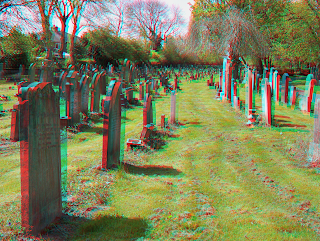 3d stereo image cemetery