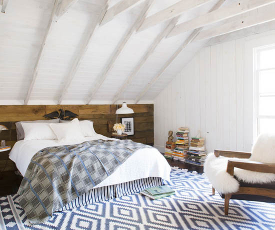 Neo rustic bedroom | 1907 School House designed by ACRE Goods+Services.