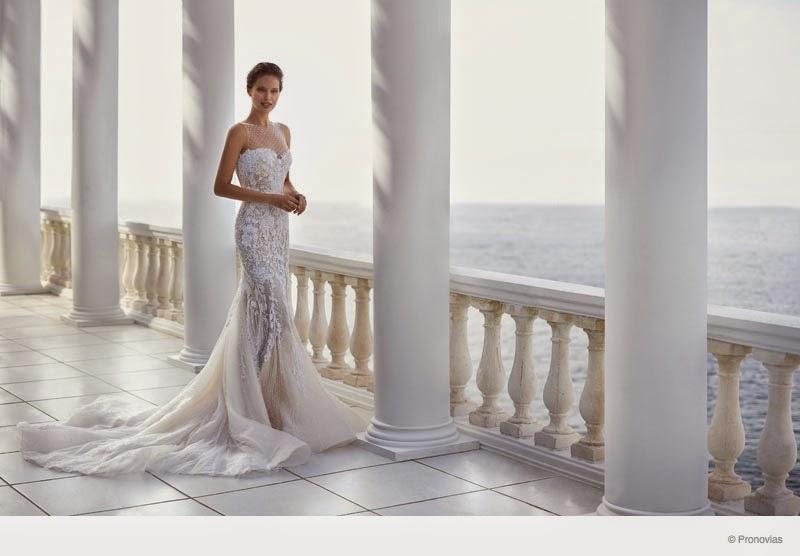 Pronovias Bridal 2015 Campaign stars Emily DiDonato