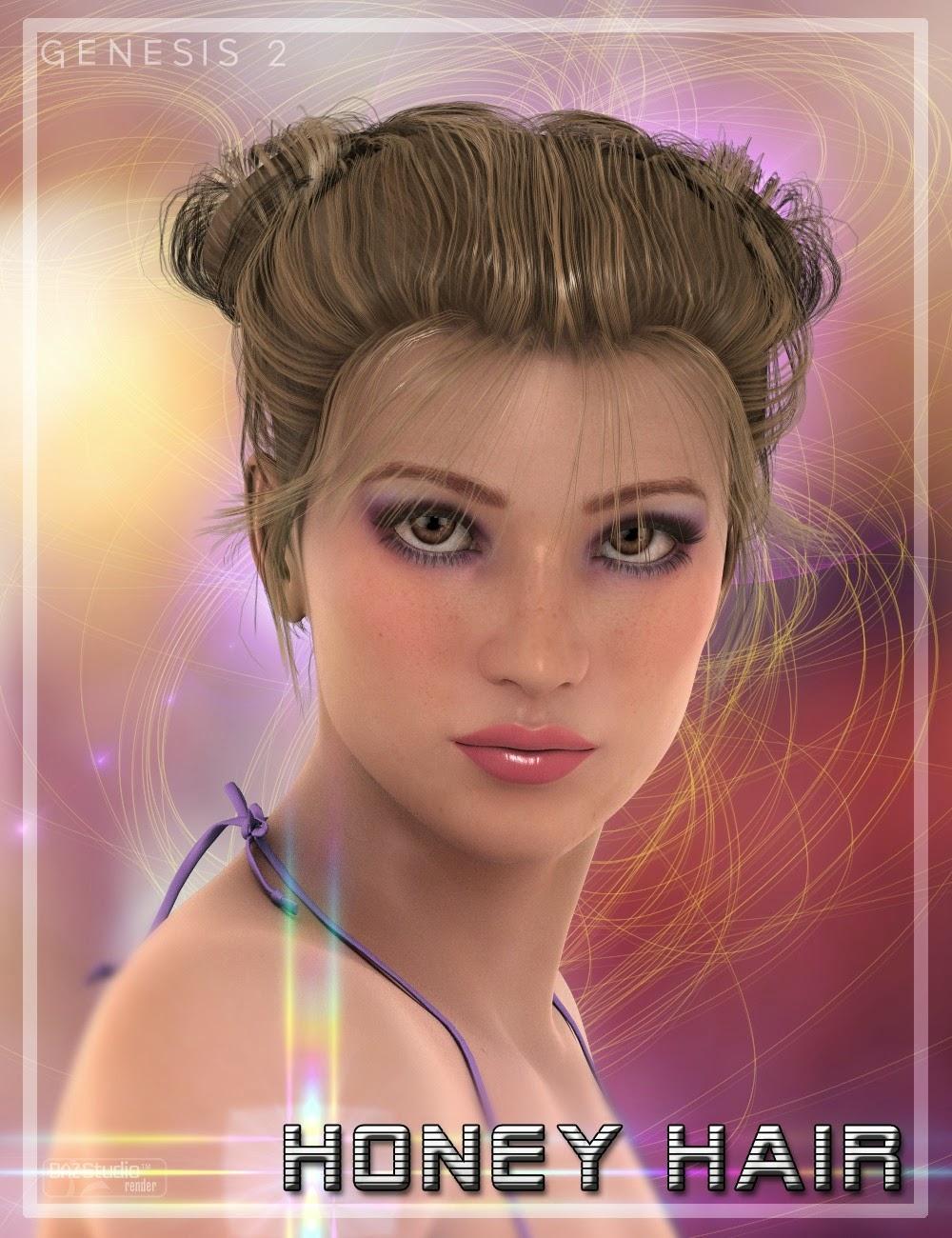 3d Models - Honey Hair for Genesis 2 Female(s)
