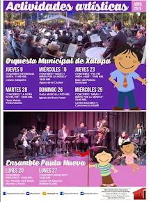 Continúan las actividades culturales y educativas en Xalapa
