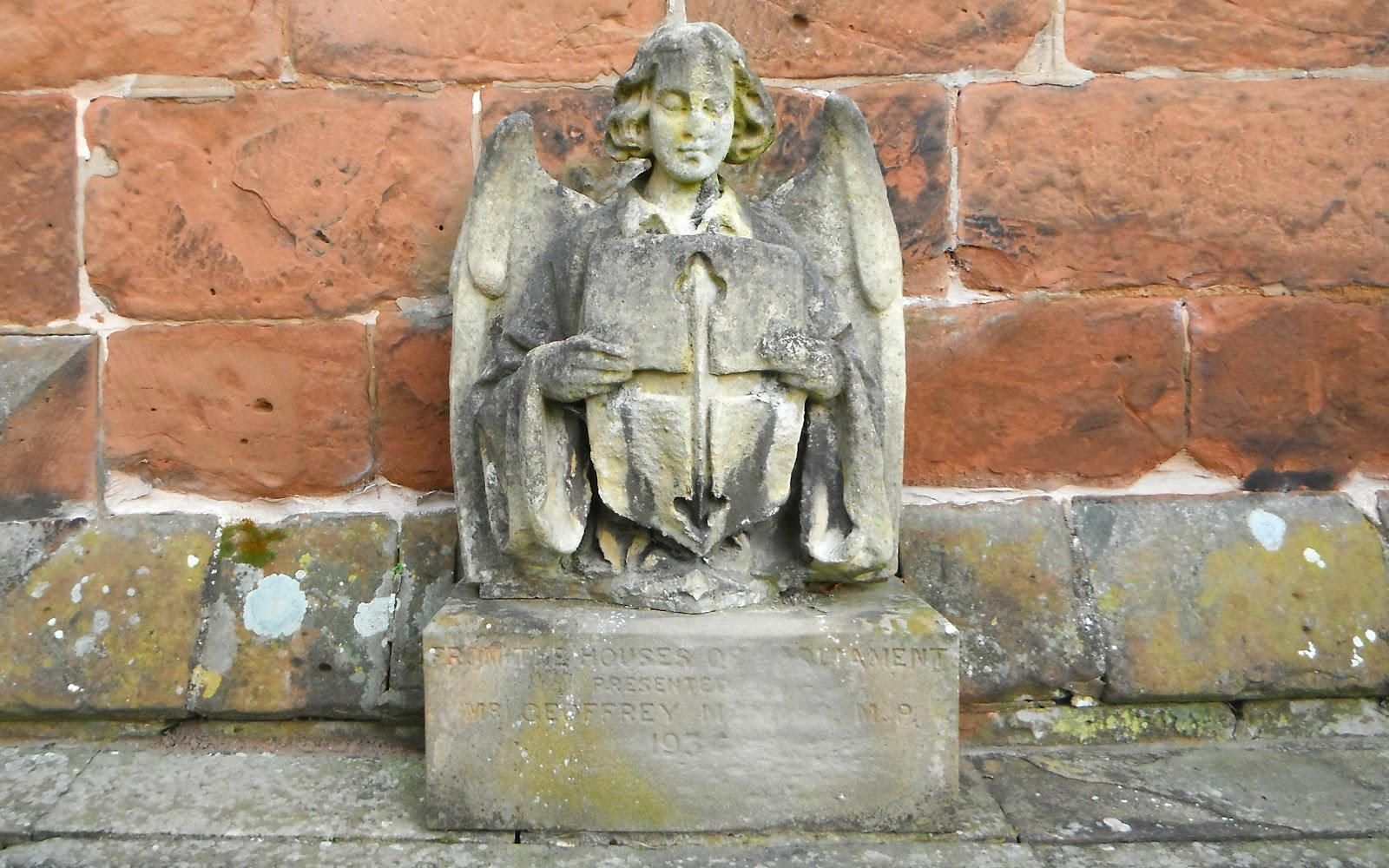 Angel sculpture at Pattingham Church