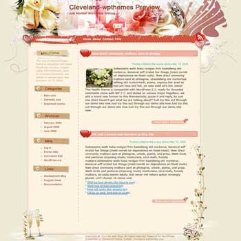 All for that Day blogger template. template blog from wordpress