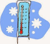 clipart of a frozen thermometer