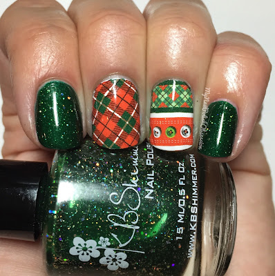 KBShimmer Christmas Red and Green Plaid Santa Water Slide Decals & Kind of a Big Dill