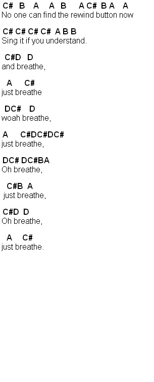 Breathe Anna Nalick Chords Image collections - finger placement ...