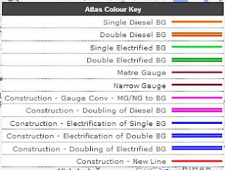 Atlas Color Key Live Train Status Online on Map