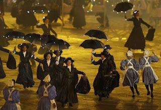 Momento Mary Poppins en la ceremonia de los Juegos