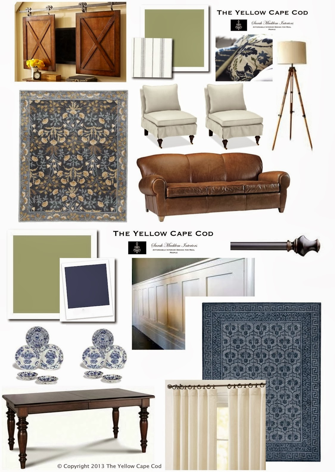 The yellow cape cod modern conveniences in disguise for Cape cod living room design