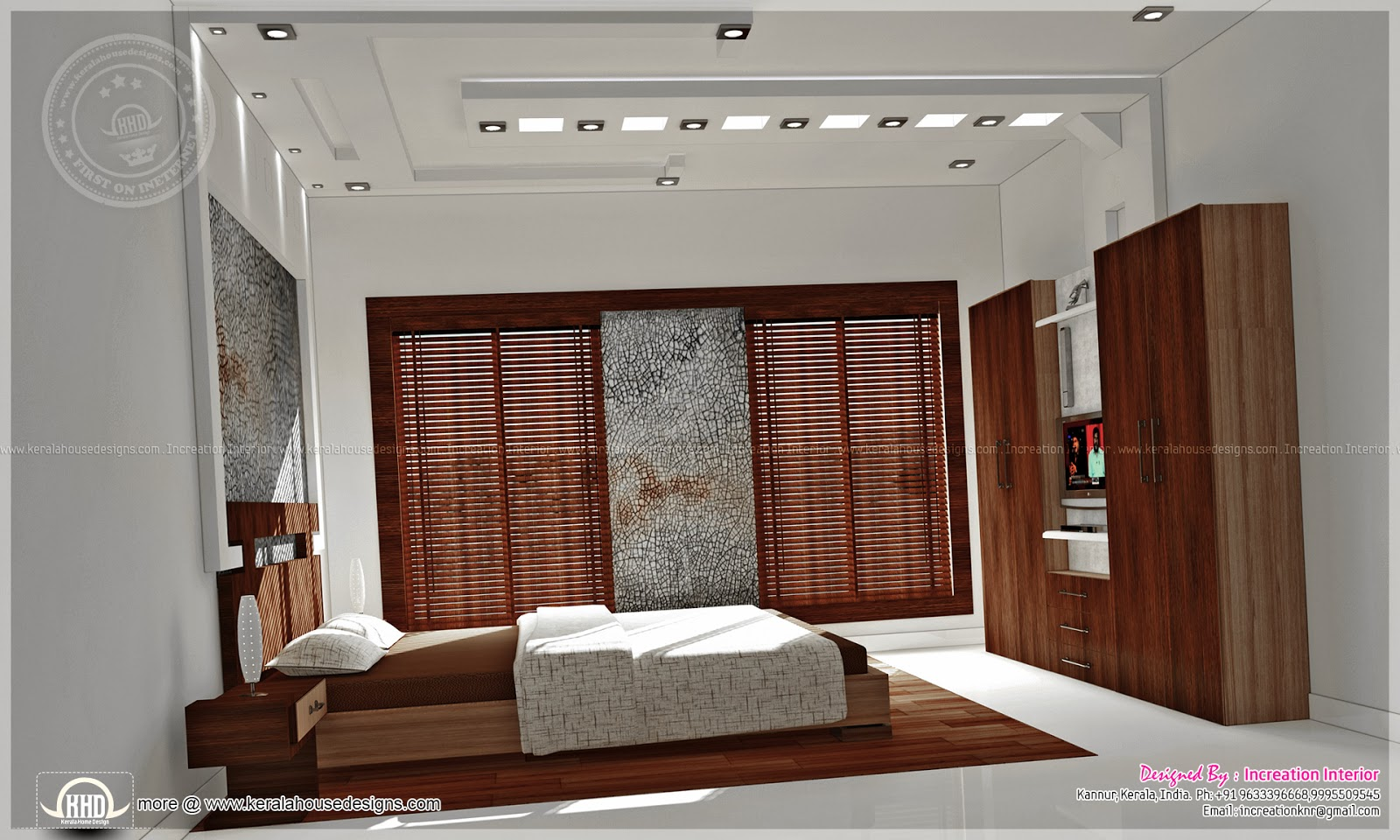 Bedroom interior designs kerala home design and floor plans for Kerala interior designs