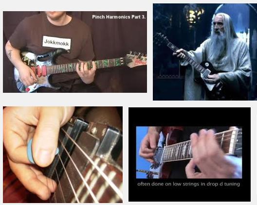 cara bermain pinch harmonic