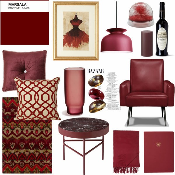Whitewings interiors marsala pantone color of the year for Decoration za nyumba