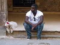 CUBAN AND HIS DOG