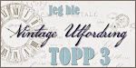 Hurra! Jeg ble topp 3 hos Vintage Utfordring :)