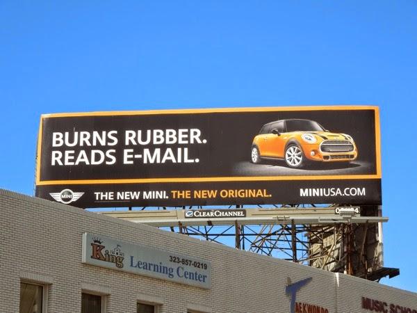 New Mini Burns Rubber Reads email billboard
