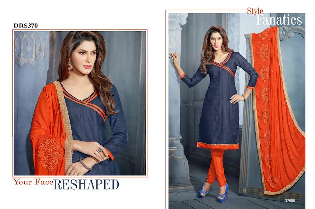 Buy Fancy Chanderi Cotton Dress Material