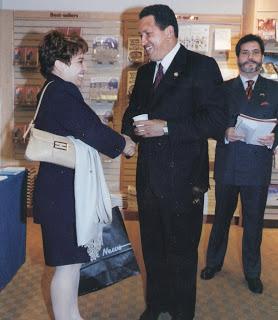 Con Hugo Chávez en las Naciones Unidas en Nueva York