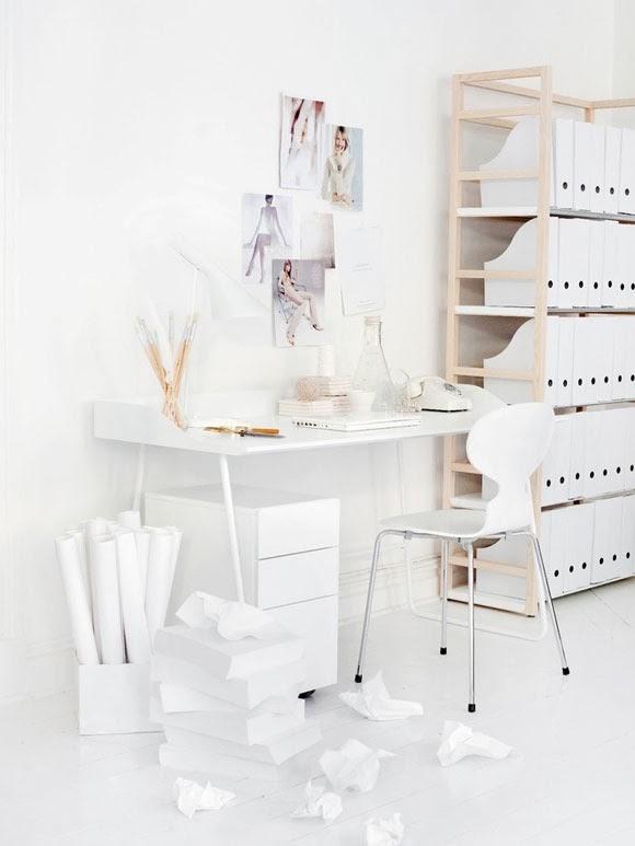 Een wit kantoor my simply special - Witte en blauwe kamer ...