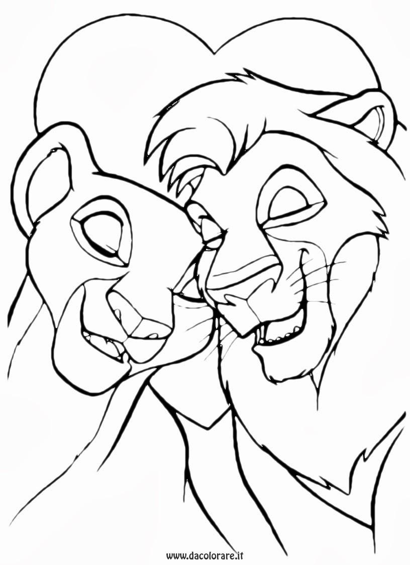 Disegni da colorare re leone for Disegni disney da copiare