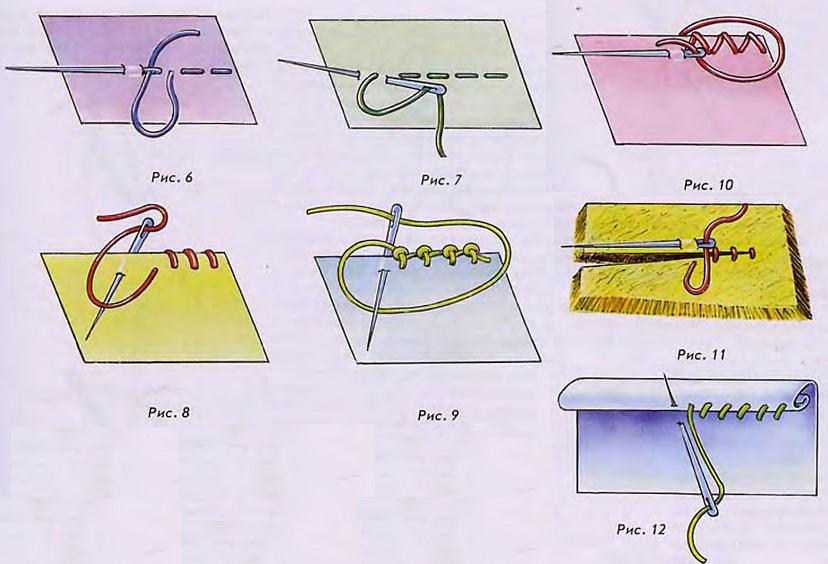 простые швы для стачивания ткани
