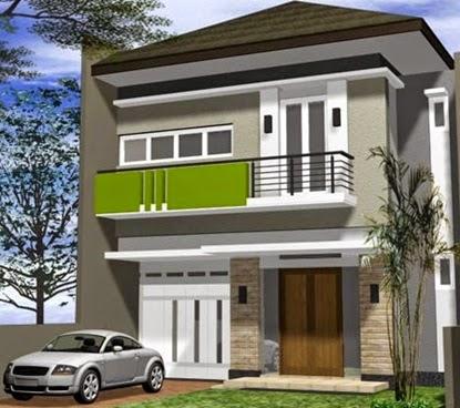 Desain Rumah Minimalis 2 Lantai Mewah