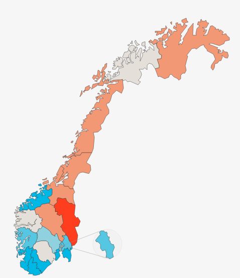 Demokrati Up Here - Norway election map
