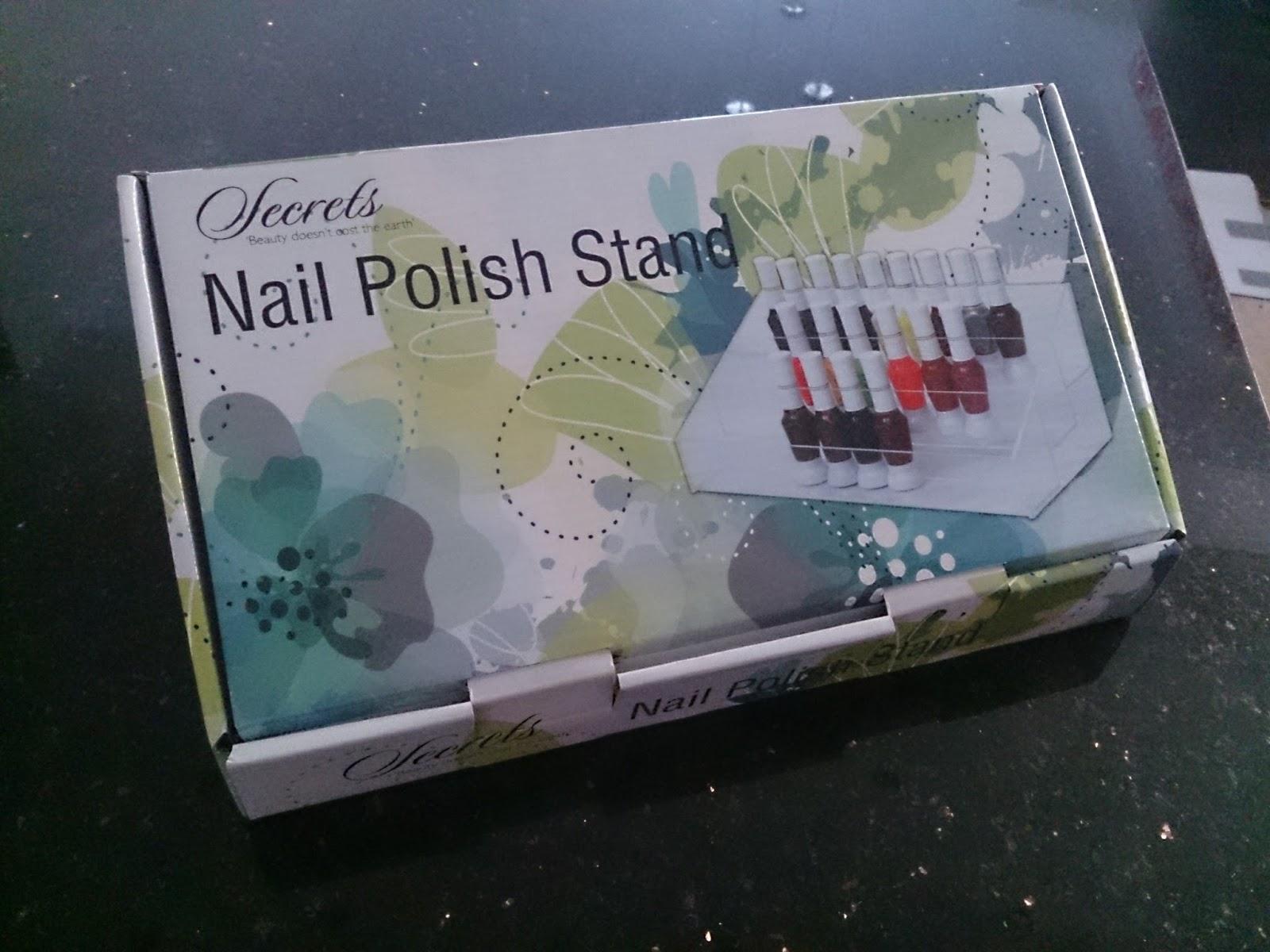 nail polish varnish stand storage acrylic clear muji display