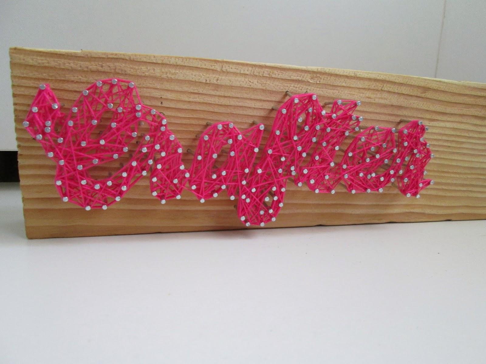 como hacer hilorama string art letras con cuerdas