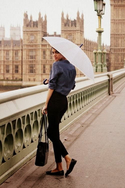 Cute outfit for a rainy day in Paris