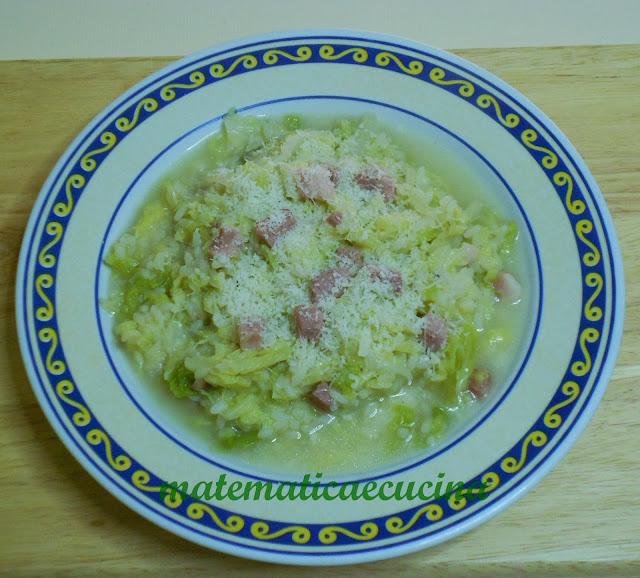 virzi e risi- minestra di riso e verza
